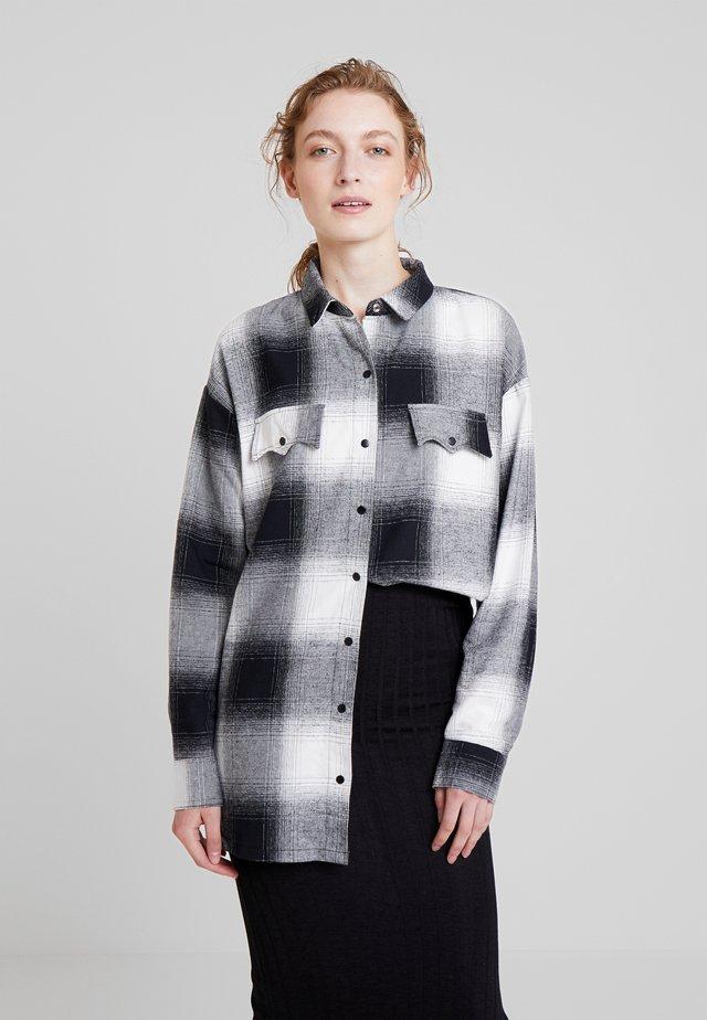 CAMISA TECIDO KENT - Button-down blouse - preto reativo