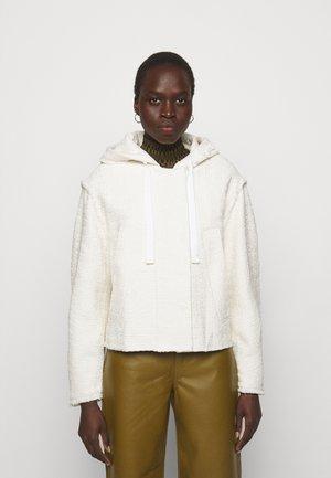 TEXTURED HOODED JACKET - Summer jacket - white