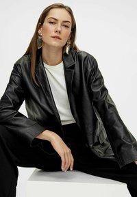 YAS - Leather jacket - black - 5