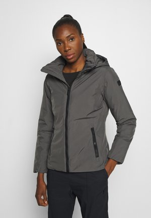WOMAN JACKET FIX HOOD - Talvitakki - dust
