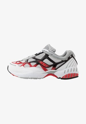 GRID WEB - Sneakers laag - white/grey/red