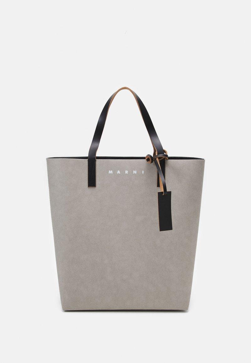 Marni - TRIBECA  UNISEX - Tote bag - natural grey/black