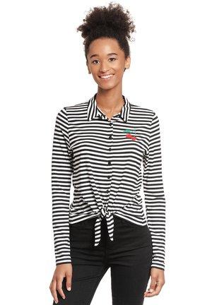 STRIPES - Button-down blouse - schwarz/weiß