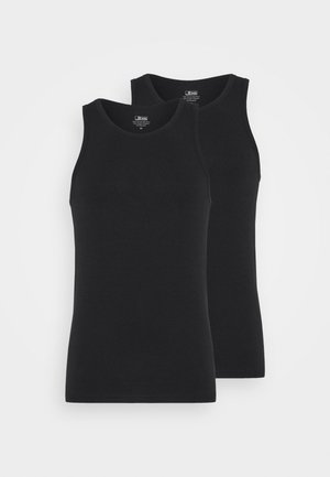 SINGLET 2 PACK - Undershirt - black
