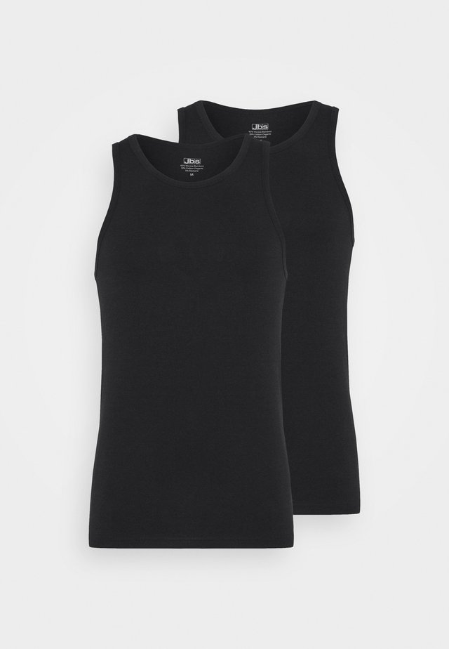 SINGLET 2 PACK - Undershirt - black