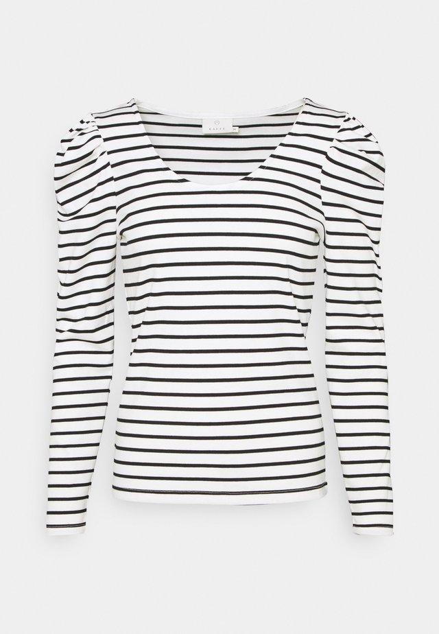 KAYLI LIDDY - Long sleeved top - chalk/black