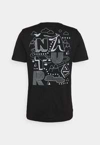 Icebreaker - TECH LITE CREWE NATURE - T-shirt print - black - 1