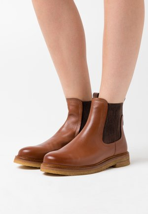 BRENDA - Classic ankle boots - cognac
