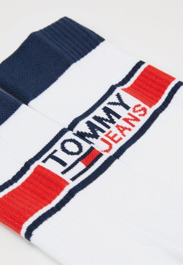 Tommy Jeans SOCKS 2 PACK UNISEX - Skarpety - white/biały Odzież Męska XYQY