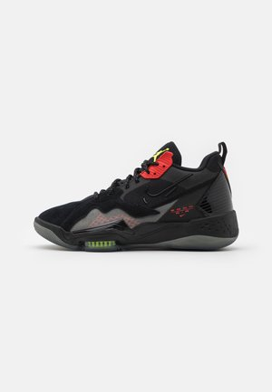 ZOOM '92 - Zapatillas altas - black/volt/chile red/smoke grey