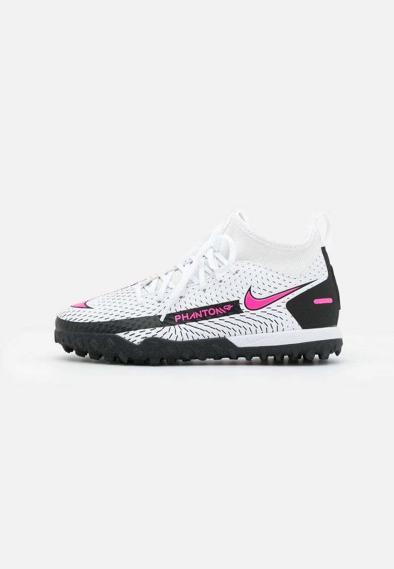 Nike Performance - JR PHANTOM GT ACADEMY TF UNISEX - Astro turf trainers - white/pink blast/black