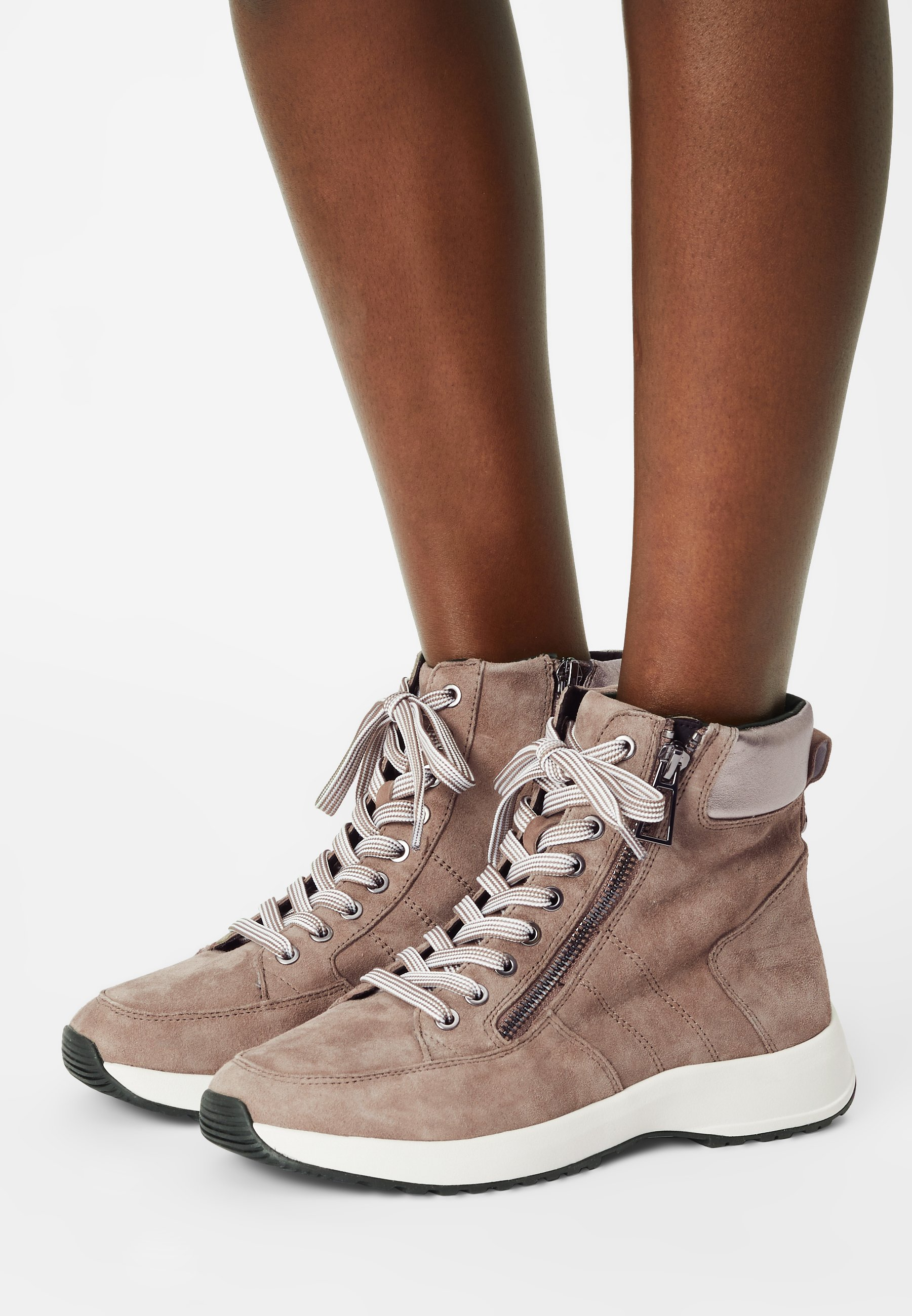 Women High-top trainers - stone