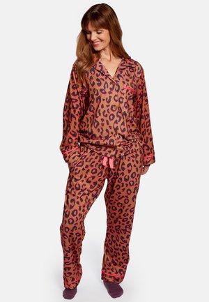 Pyžamová sada - brown leopard