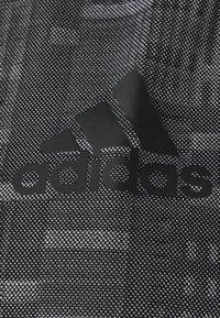adidas Performance - TEE - Print T-shirt - black/white - 2