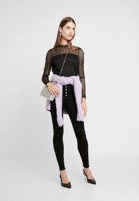 Missguided - VICE BUTTON UP - Skinny džíny - black - 1