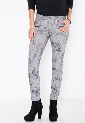 Slim fit jeans - gestreift