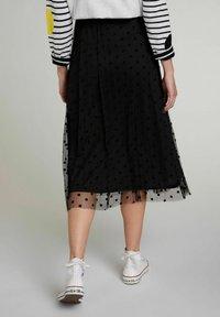 Oui - A-line skirt - black - 2