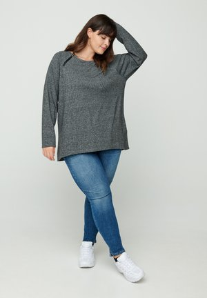 Blouse - dark grey