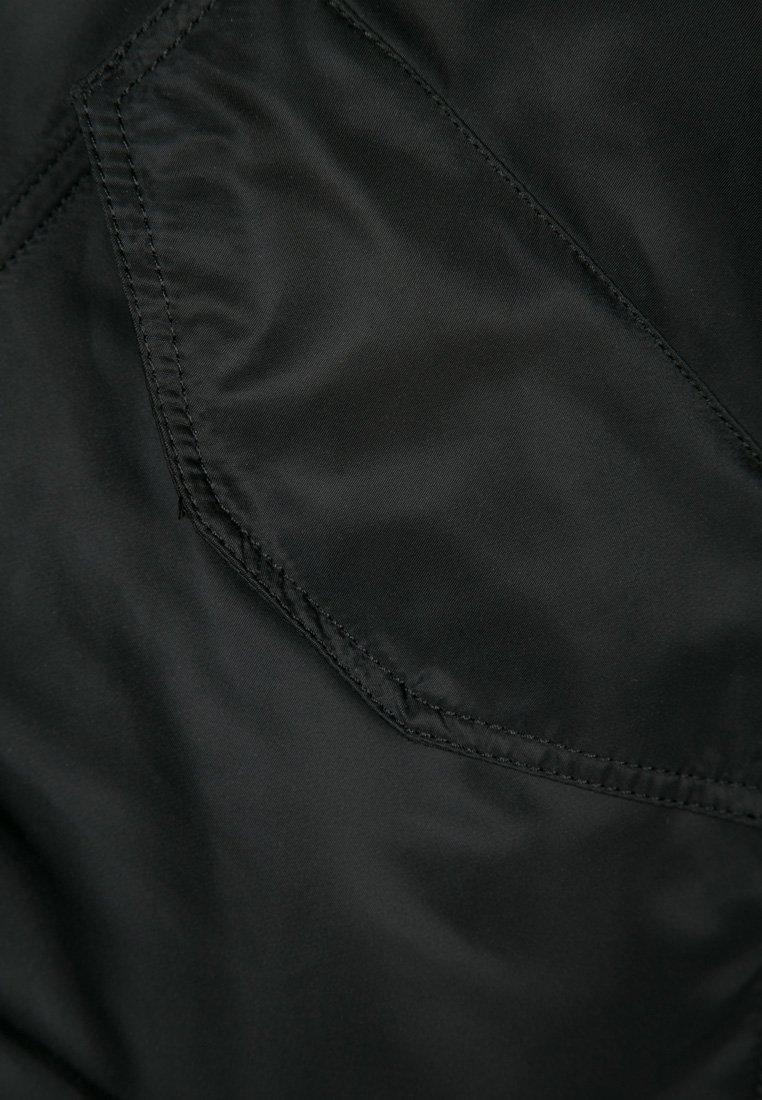 Alpha Industries HOODED CUSTOM - Übergangsjacke - black/reflective/schwarz c7y1sy
