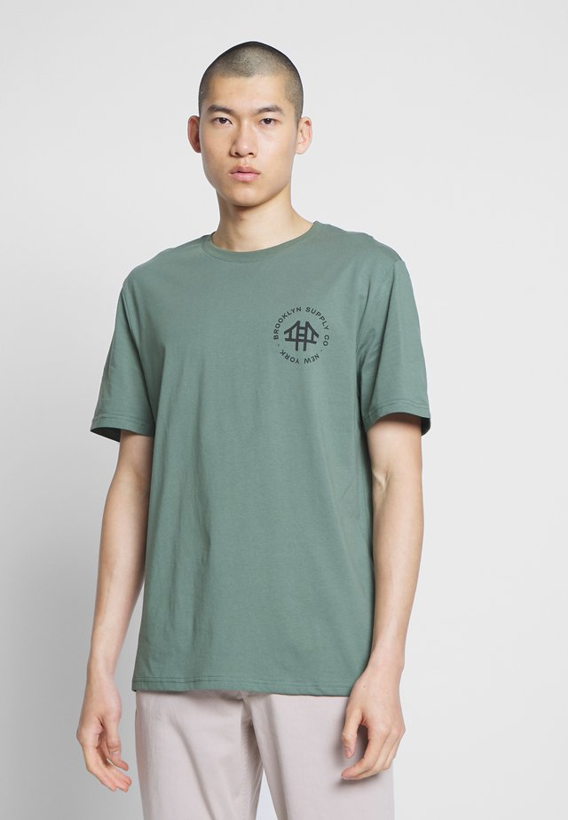 REGULAR LOGO TEE - T-shirt imprimé - teal