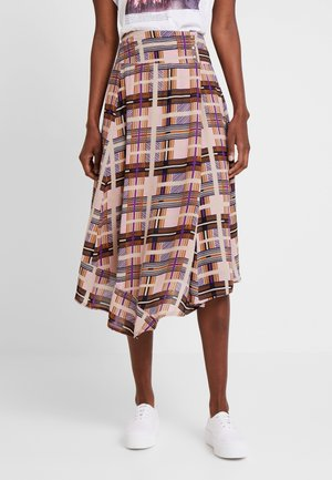 CHECKA SKIRT - A-snit nederdel/ A-formede nederdele - dachshund brown