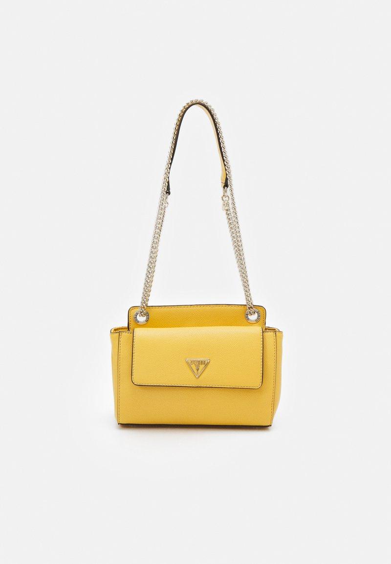 Guess - SANDRINE CONVERTIBLE CROSSBODY - Across body bag - yellow