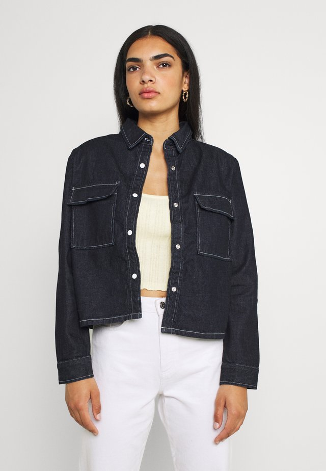 BOLD SHOULDER - Button-down blouse - shadow rinse
