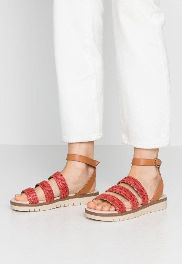 DAMAS - Sandaalit nilkkaremmillä - freetime rojo