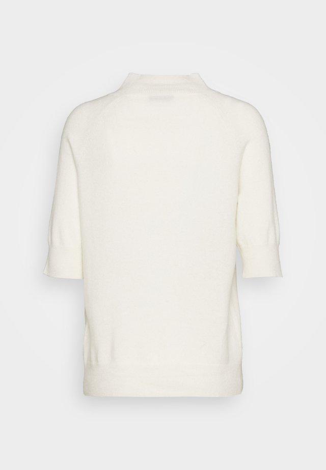 MOCKNECK SHORTSLEEVE - T-shirt basic - ivory