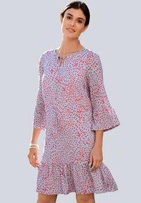 Alba Moda - Day dress - blau/koralle - 0