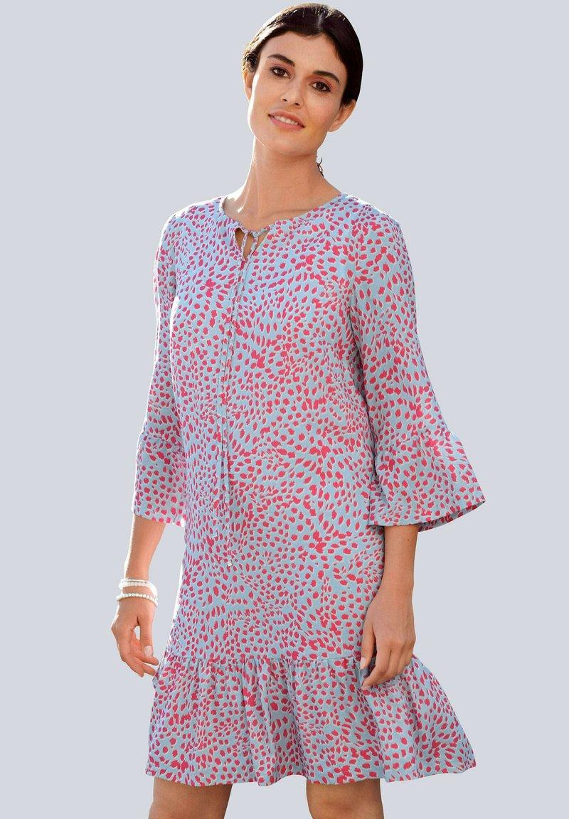Alba Moda - Day dress - blau/koralle