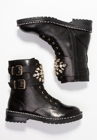 Kurt Geiger London - STOOP - Lace-up ankle boots - black - 3