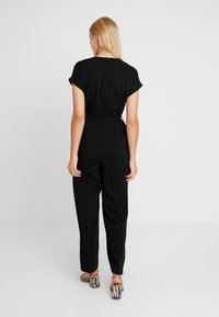 TOM TAILOR - WITH BELT - Tuta jumpsuit - deep black - 2