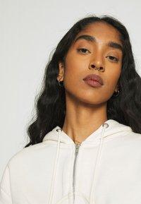 Missguided - CORSET HOODY - Zip-up sweatshirt - cream - 3