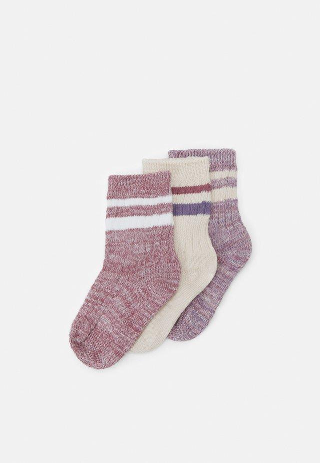 CREW 3 PACK - Ponožky - berry twist