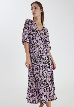 Jersey dress - violet tulle print