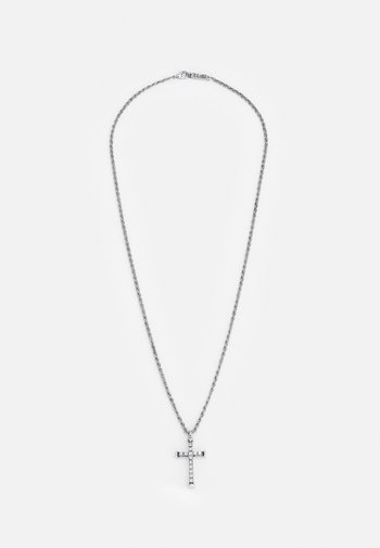 PLAYING WITH FIRE CROSS NECKLACE - Halsband - silver-coloured