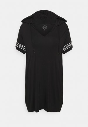 LOGO HOODIE DRESS - Day dress - black