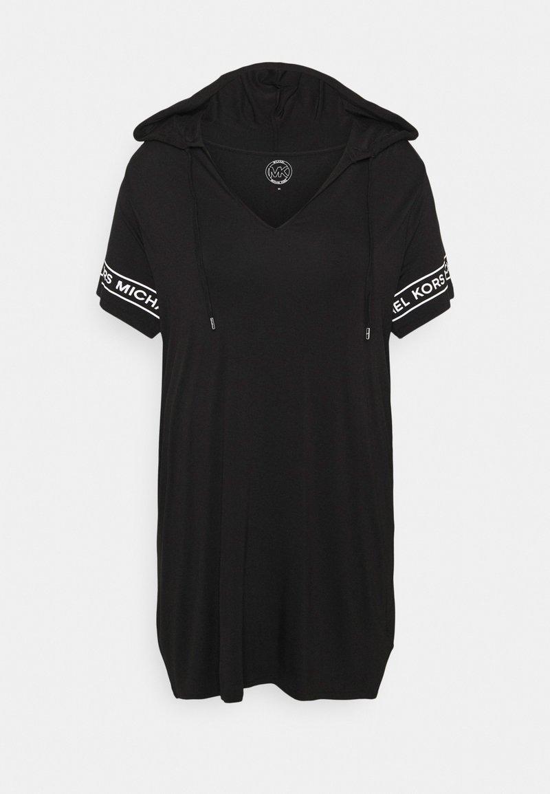 MICHAEL Michael Kors - LOGO HOODIE DRESS - Denní šaty - black