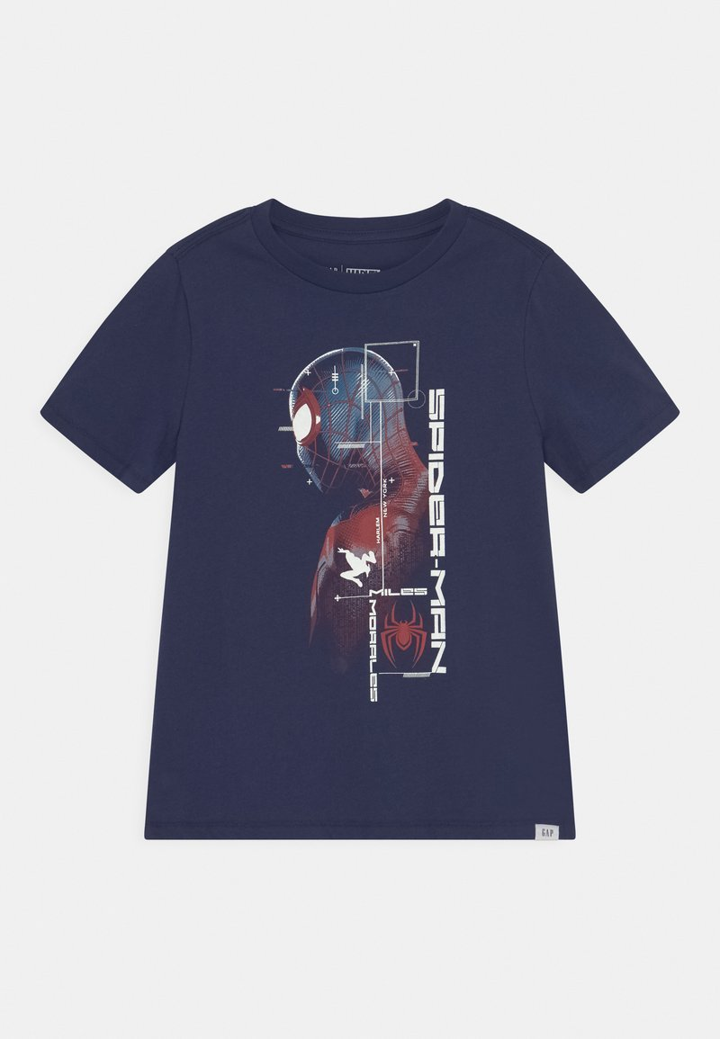 GAP - BOYS TEE - T-shirt med print - military blue