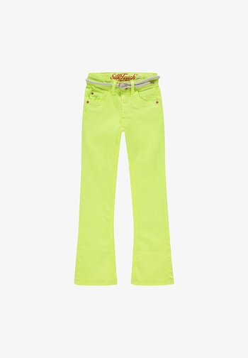 BELIZE - Bootcut jeans - light neon yellow