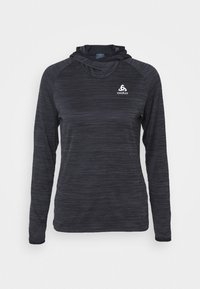 ODLO - HOODY MIDLAYER MILLENNIUM ELEMENT - Long sleeved top - black - 3