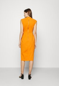 Closet - WRAP PENCIL DRESS - Shift dress - rust - 2