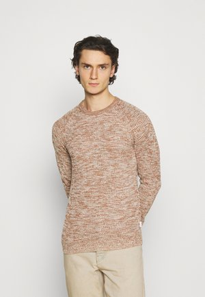JJPANNEL CREW NECK - Maglione - oatmeal/dusty olive