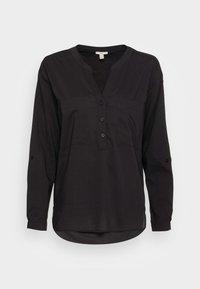 edc by Esprit - HENLEY BLOUSE - Blouse - black - 3