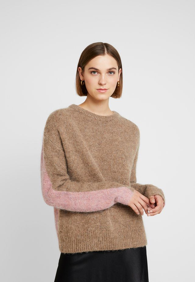 ASPEN - Jumper - beige/rose