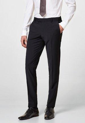 ACTIVE SUIT AUS WOLL-MIX - Suit trousers - black