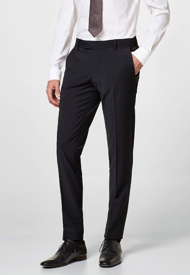 ACTIVE SUIT AUS WOLL-MIX - Spodnie garniturowe - black