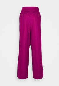 Marks & Spencer London - WIDELEG TROUSERS - Trousers - pink - 1