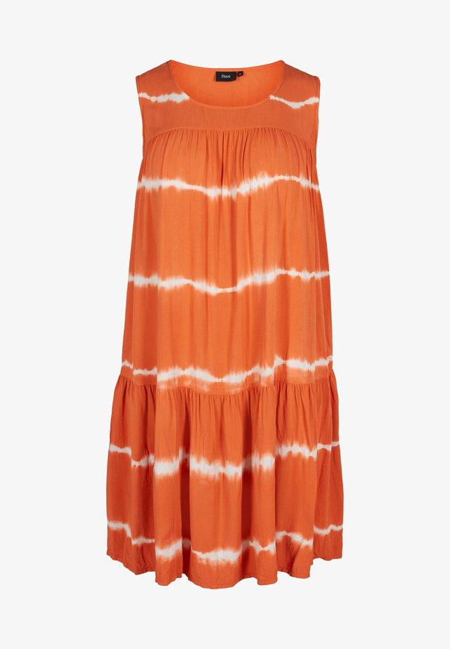 Hverdagskjoler - orange batik